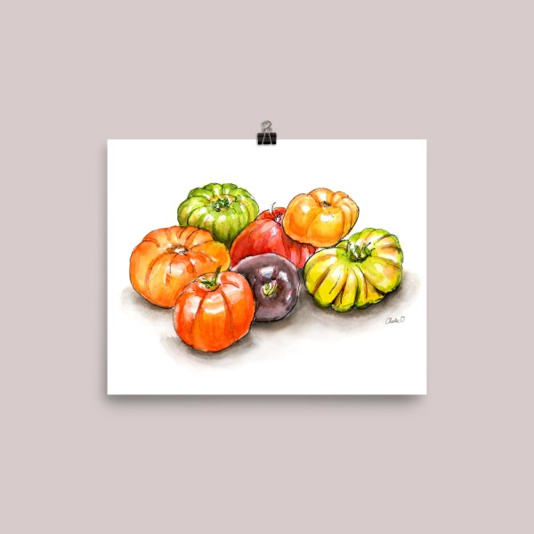 Heirloom Tomatoes Watercolor Print Preview Image