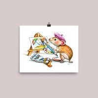 Mouse Painting Illustration Watercolor Print