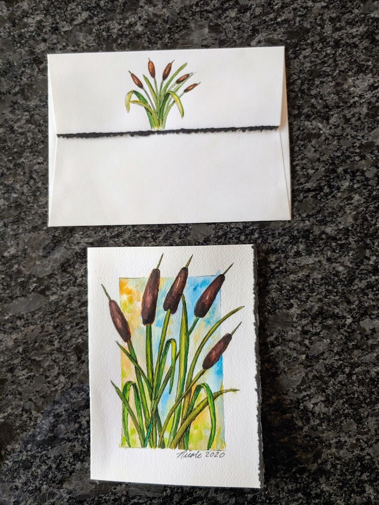 Greeting card gift – Cattails 20201207_124541
