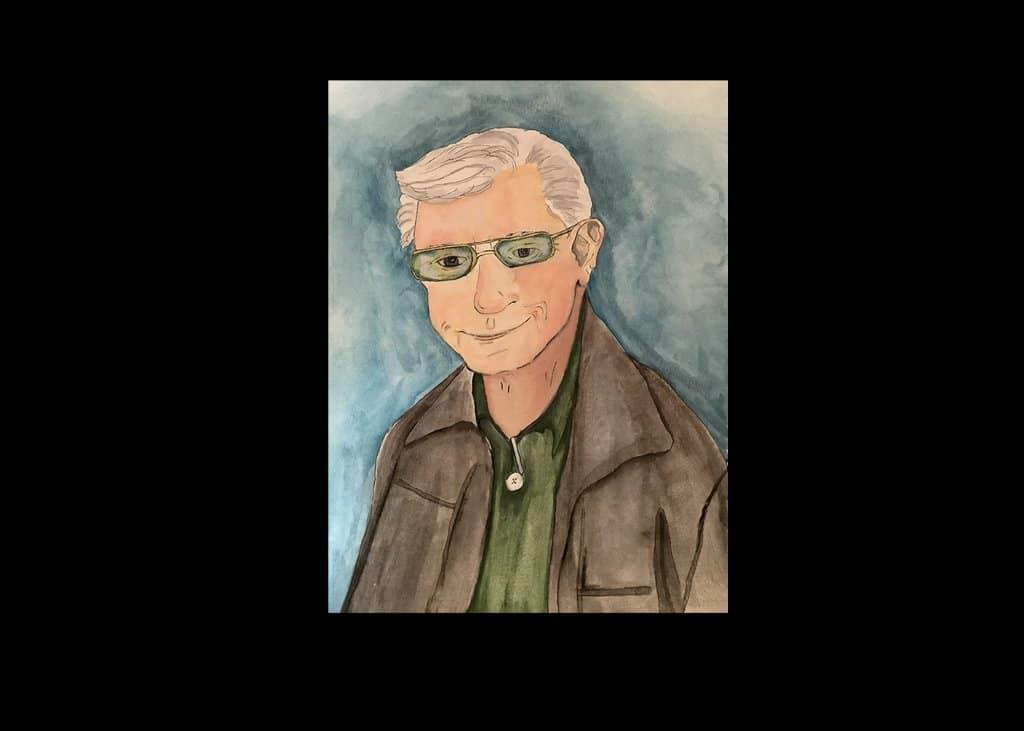 Portrait of Richard, buddy of husband, opaque watercolors. 2042A034-E193-4A64-B482-0F0ABFFFA36D