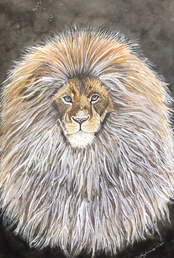 ALL HAIL THE KING Watercolor by Kathy Lee