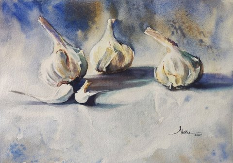 Garlicky_talk_Shikha_Garg watercolour painting