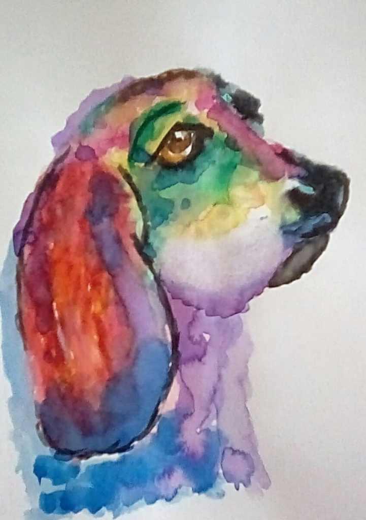 """Yesterday's watercolor challenge """"Modern"""" . IMG_20210107_120258_hdr_kindlephoto-92"""