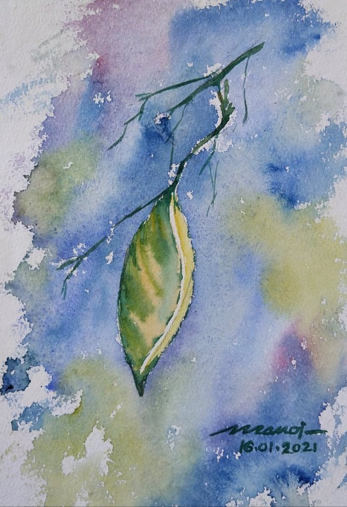Dt: 16.01.2021 Sub: COCOON Watercolor painting on handmade paper inbound13561539798894344