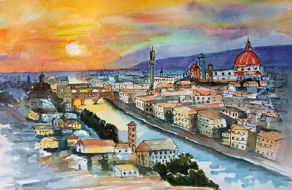 travel3 sketch watercolour by Shikha Garg
