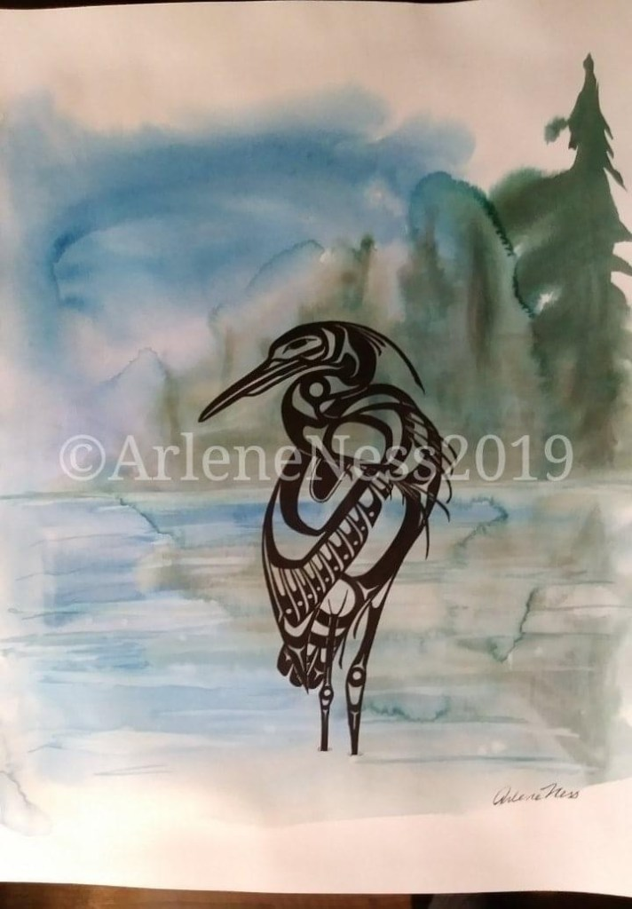 Great Blue Heron, new paper to try that was advertised as at watercolour (can't remember the name)