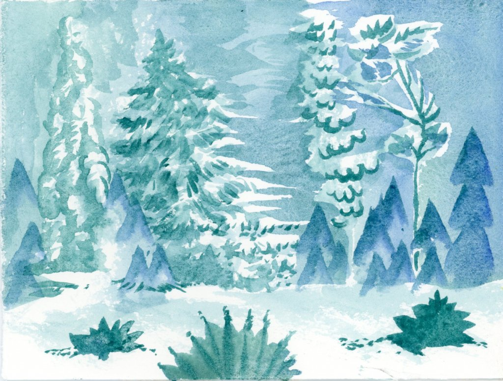 Winter Watercolor Painting by Sandra Strait