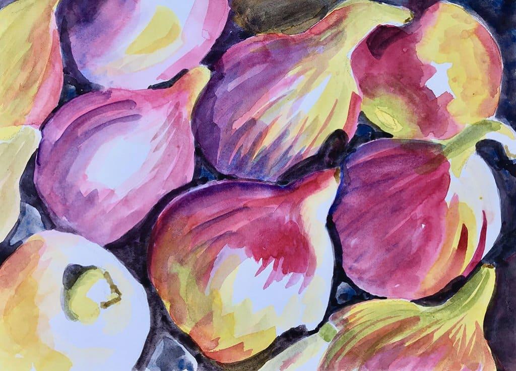 Fig Season Sinicki Watercolor by Lisa Goell Sinicki