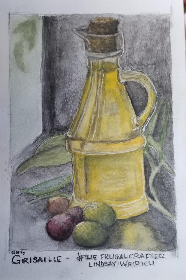 Watercolour added aquarelle graphite 4