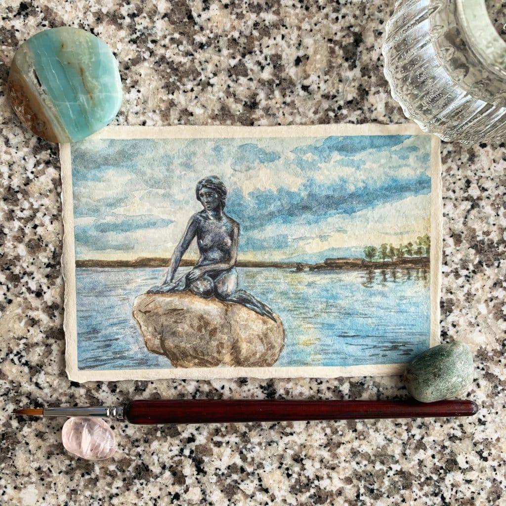 "Doodlewash x Design: Day 23 -""Ocean"", Little Mermaid, Copenhagen, Denmark I've seen this statu"