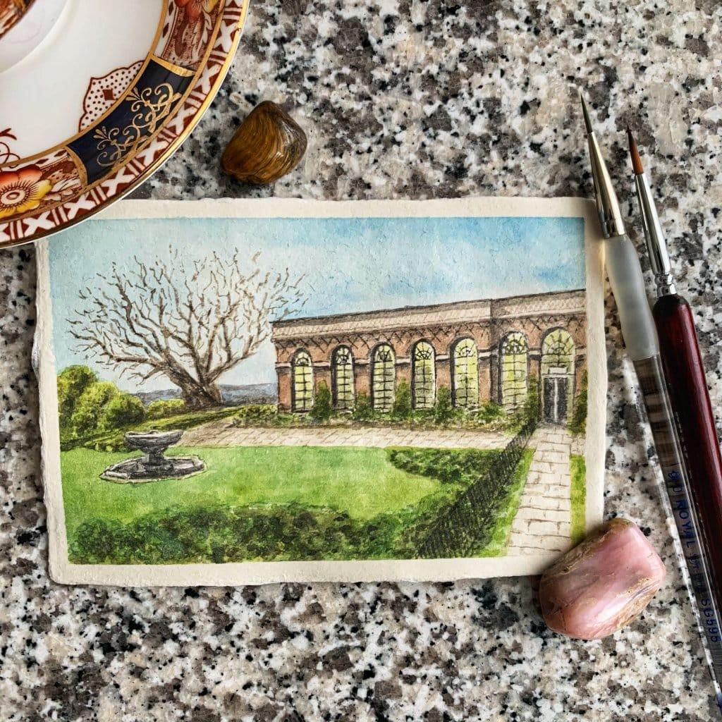 """Doodlewash x Design: Day 21 -""""Spongecake"""", Orangery Tea Room, Ashburnham Place, U.K. This prompt"""