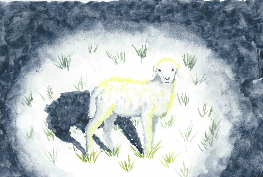 I painted this little lamb for our Christmas cards last year, but forgot to share it here. Happy spr