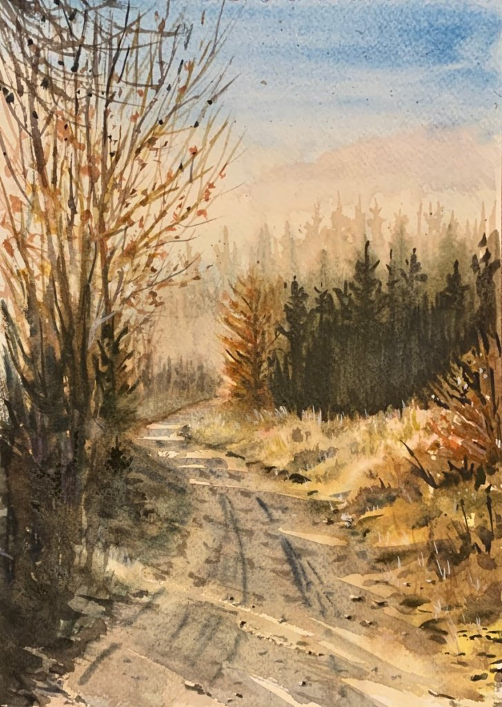 November forest. Watercolor, approx. A4 IMG_5853