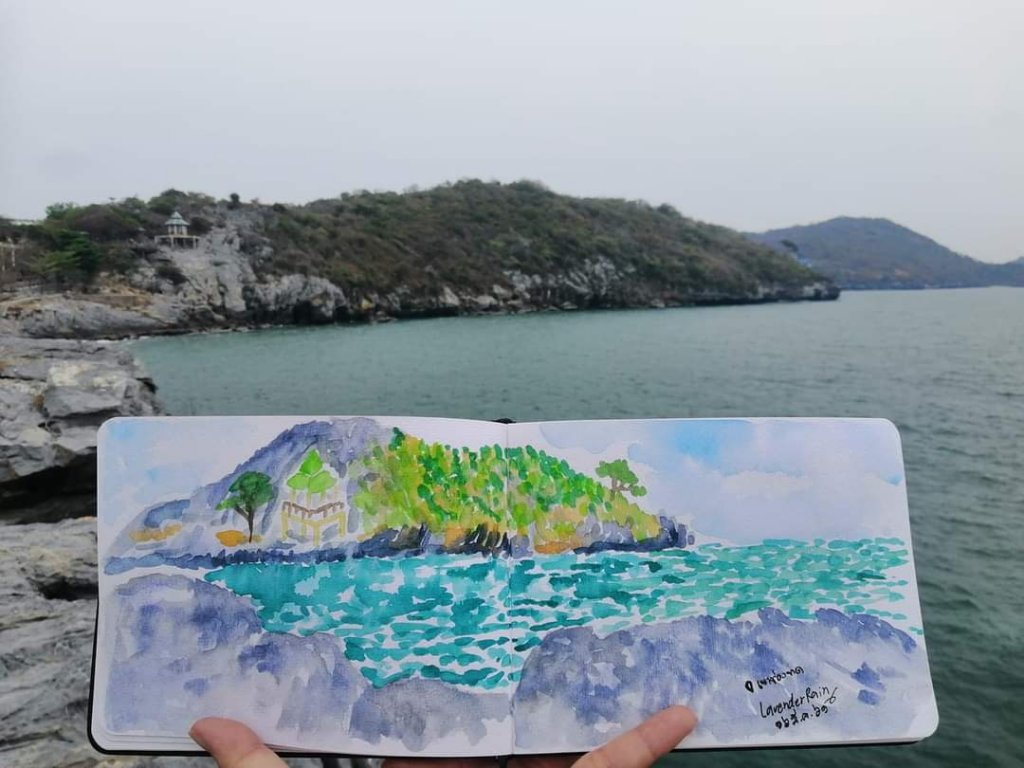 i painted on Koh Si Chang, Chonburi province in Thailand. FB_IMG_1616726289024
