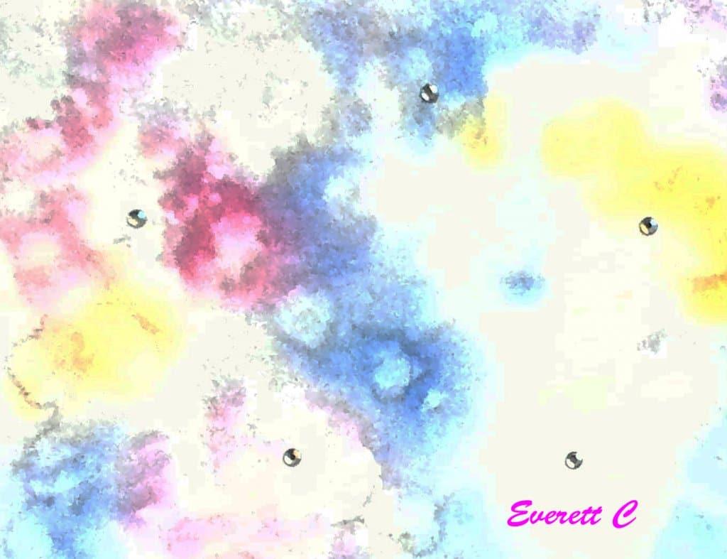 "Watercolor wash, ""Shiny."" #ArtPainting #EverettsWatercolors #DoodleWashApril2021 #30 #Sh"