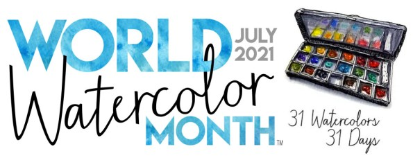 World Watercolor Month July 2021 Banner
