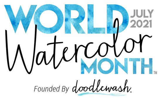 World Watercolor Month July 2021 Logo