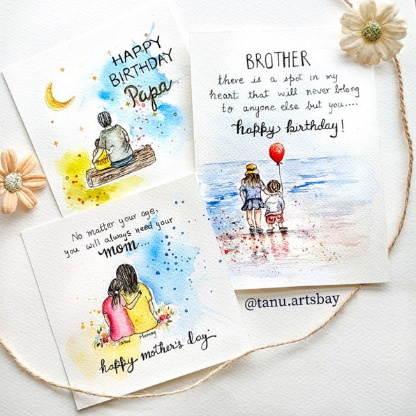 Family Messages Paintings Watercolor