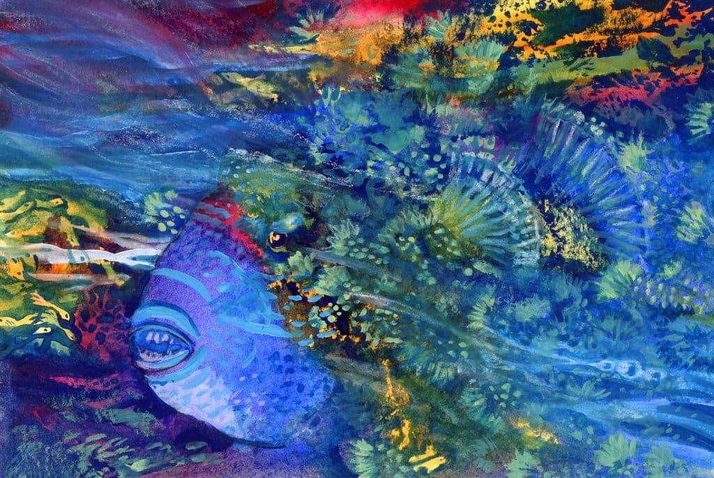 Tropical Fish Watercolor Painting