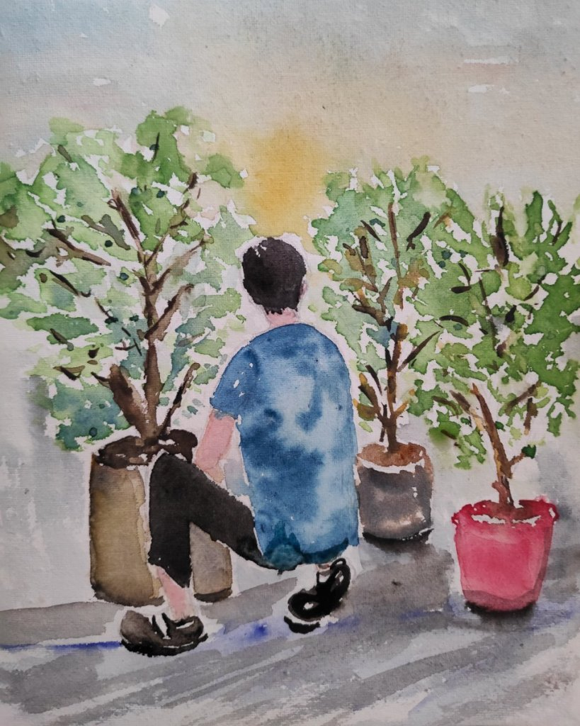 #day16 #gardening #doodlewashmay2021 #worldwatercolorgroup IMG_20210516_113152_452