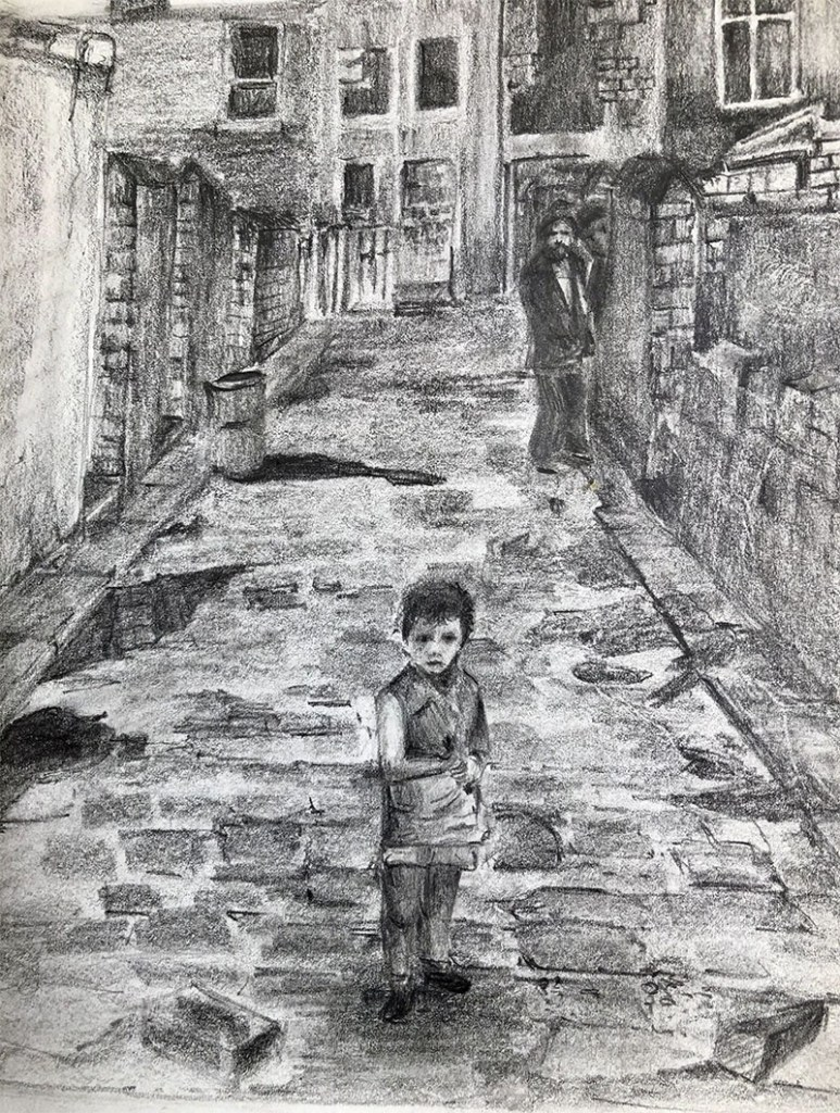 Back Alley Pencil On Paper