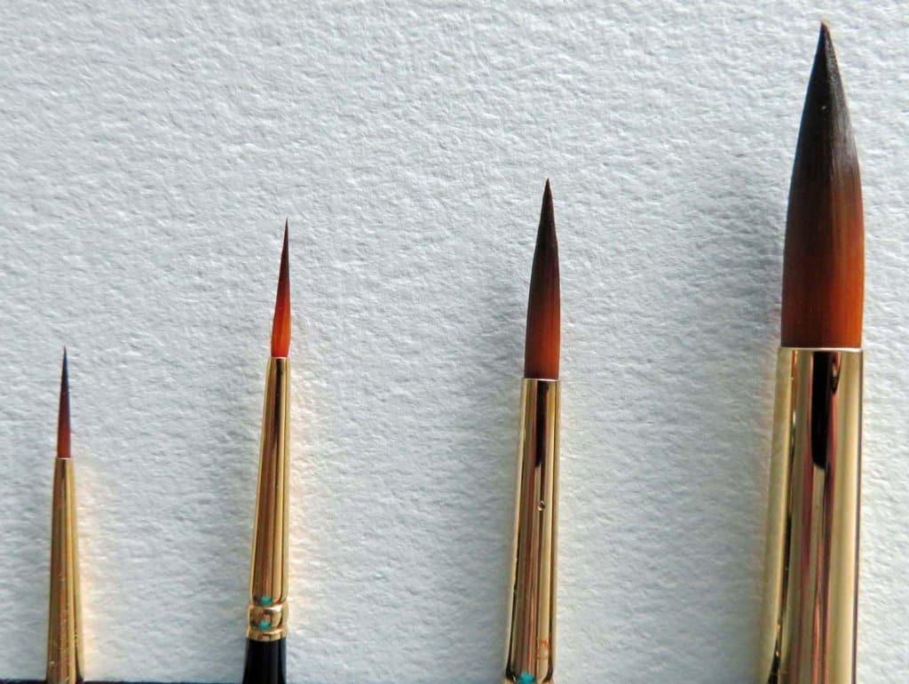 Callia Mixed Media Brushes Watercolor Oil Acrylic - Fine Round Brushes
