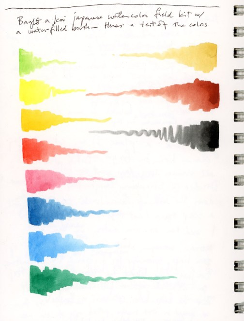 koi watercolor palette 2018