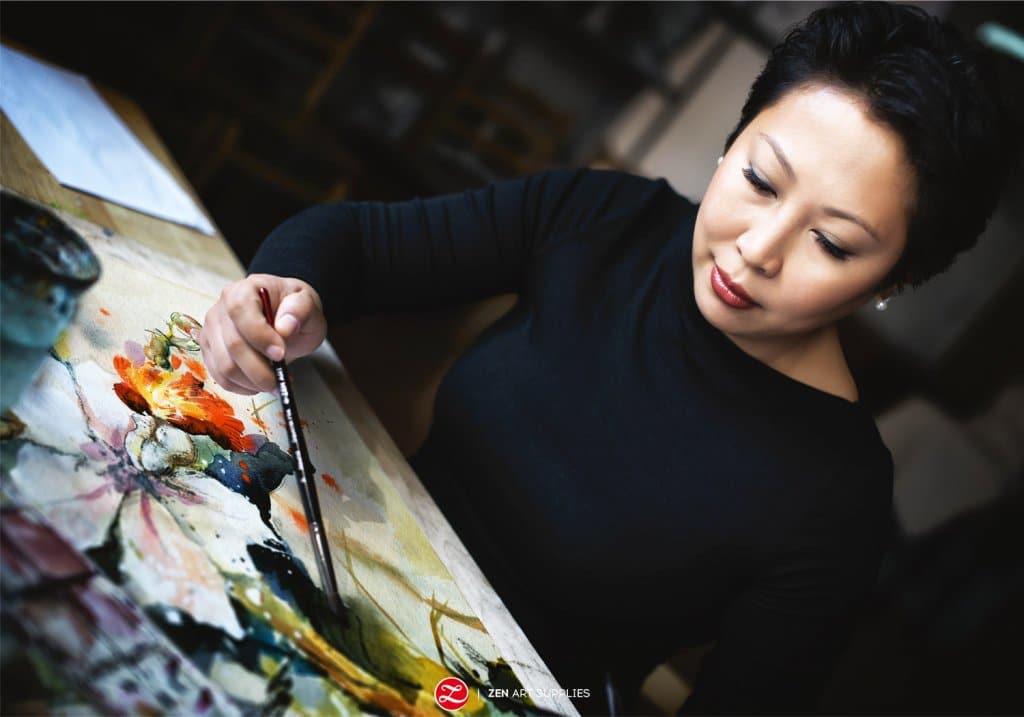 Ardak Zen Art Supplies Watercolor Painting Orchid