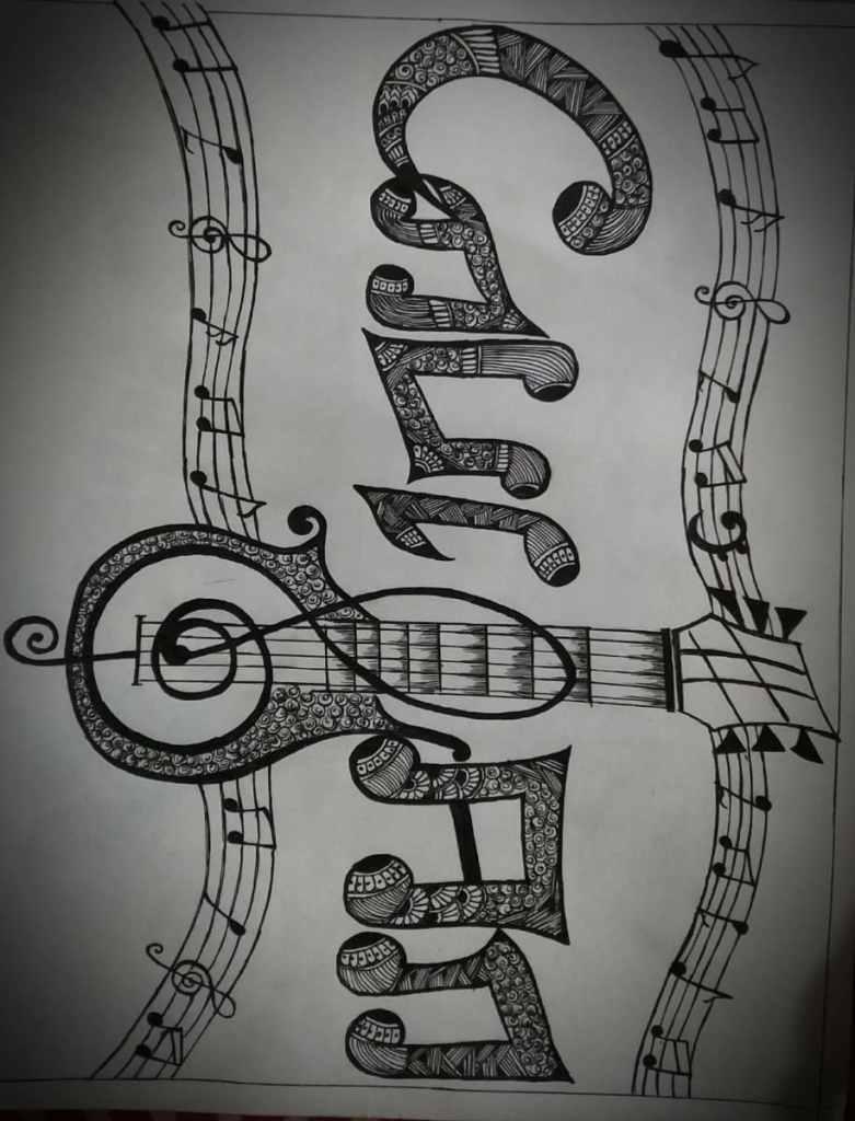#guitarlover #musicalnotes #mydrawingstyle #doodle20210610_142341