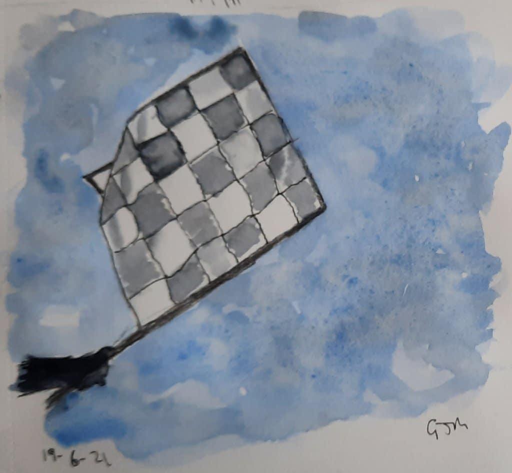 #doodlewashjune2021 Day 19 Flag. #worldwatercolorgroup 20210619_164933