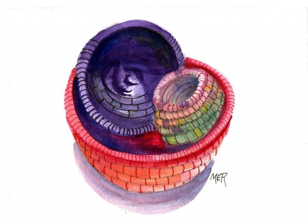 6/15/21 Basket Three coiled yarn baskets I made years ago 6.15.21 Basket img001