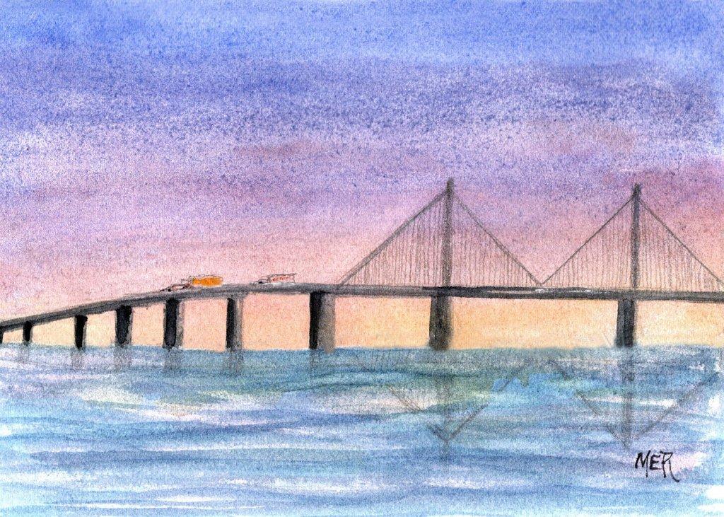 6/23/21 Bridge – a small section of our 4.14 mi (6.7 km) Sunshine Skyway Bridge that spans Tam