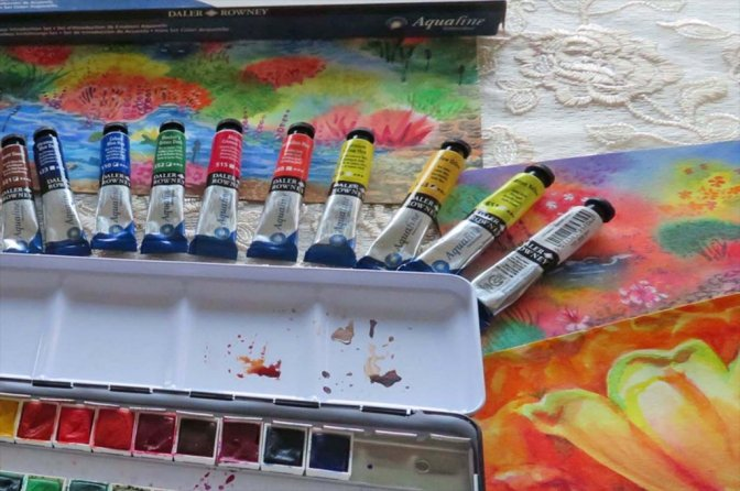 Aquafine Watercolor by Daler-Rowney Tubes and Pan Set