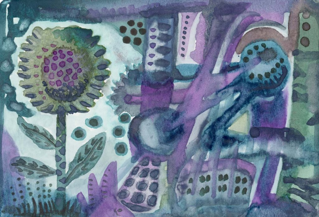 Two of the examples that I did for a review of Zenso watercolors (it will be on my blog this time).
