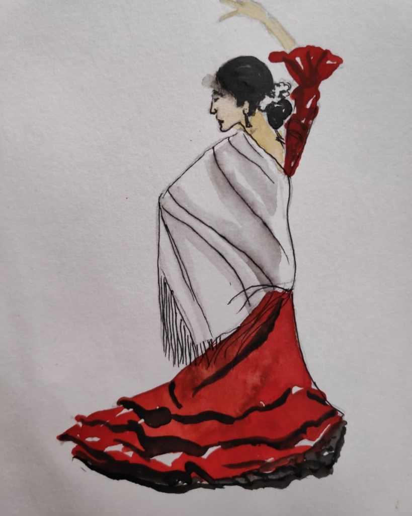 #day13 #dance #doodlewashjune2021 #worldwatercolorgroup IMG_20210613_131453_446