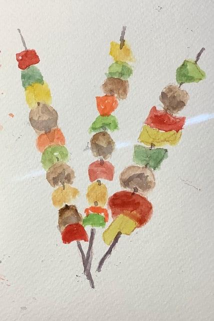 "#doodlewashjune2021 day 16 barbecue – a real summer ""yum-yum""! IMG_3236"