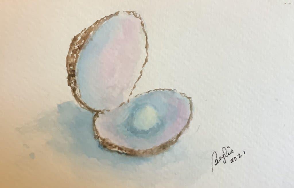 #doodlewashjune2021 day 17 pearls IMG_3239