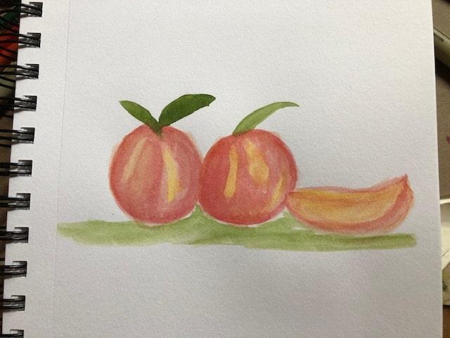 Day 2 Peaches #doodlewash2021june IMG_6946