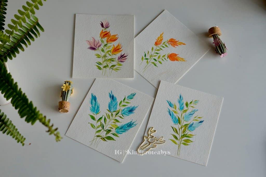 Wateroclor Floral painting wedgebrush by Swapna Khade