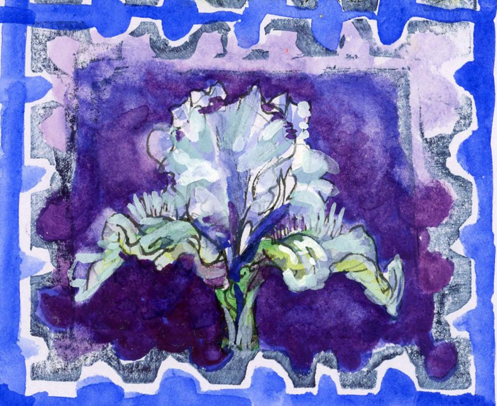 #WorldWatercolorMonth2021 Prompt: Hushed. Many types of Iris are called Hush. Hush Diana, Dawn Hush,