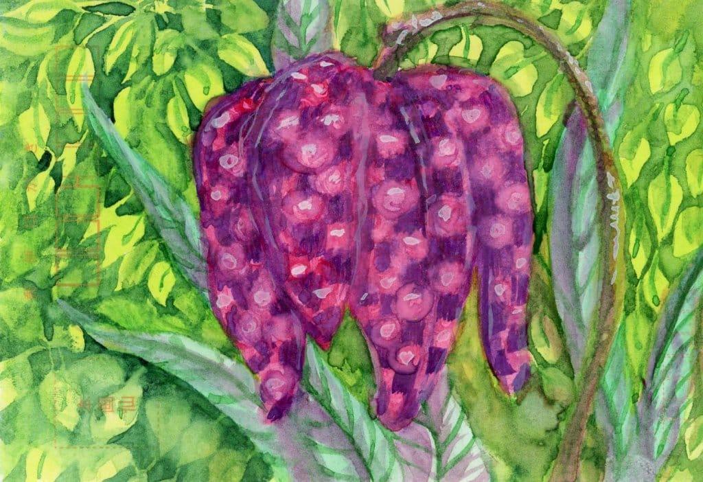 Watercolor Grapes Painting Gansai Watercolor