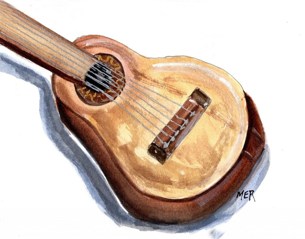 T/28/21 Instrument A guitar was a Present from my husband on our 1st Christmas. We both took lessons