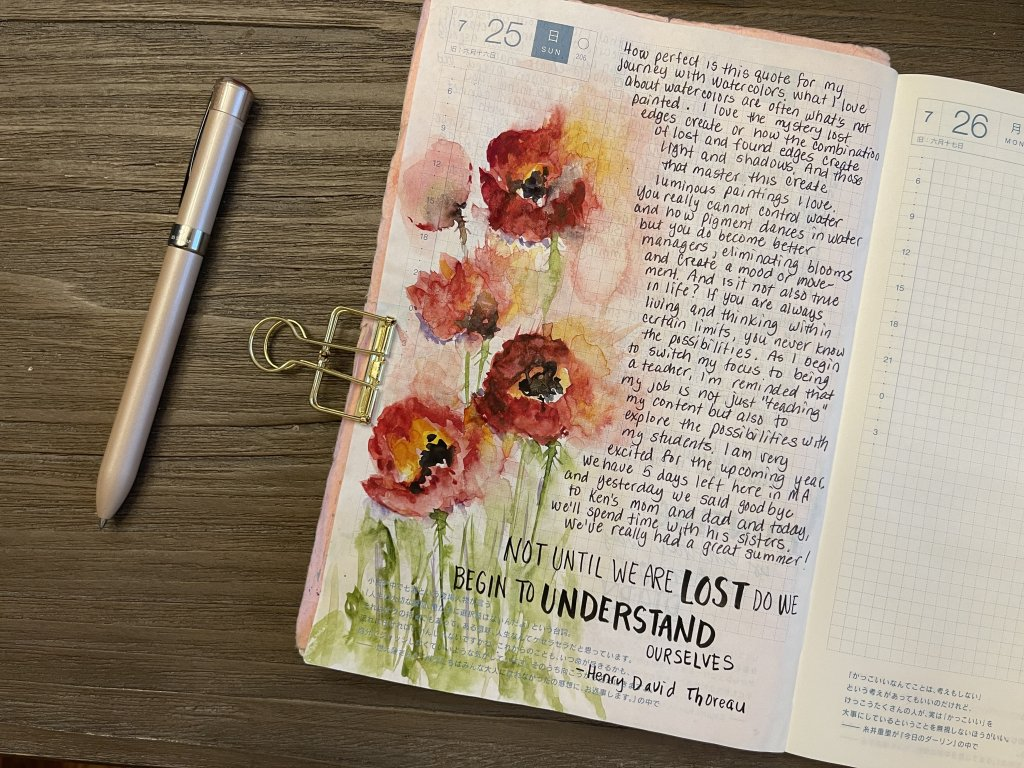 Day 25 – Lost Learning watercolors for me is about learning how to manage lost and found (soft