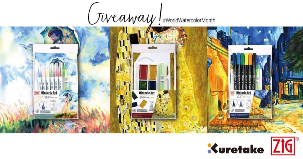 Kuretake Watercolor World Watercolor Month 2021 Sharing Image