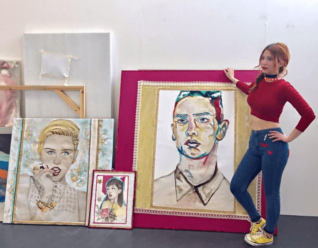 2 Theodora Lionti at Her Exhibition
