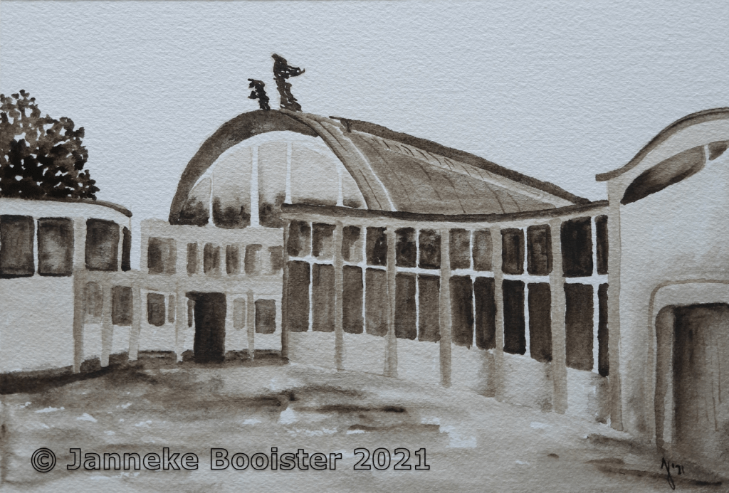 For a challenge about Monuments I decided to paint one of my personal favourites: The Rivièrahal in