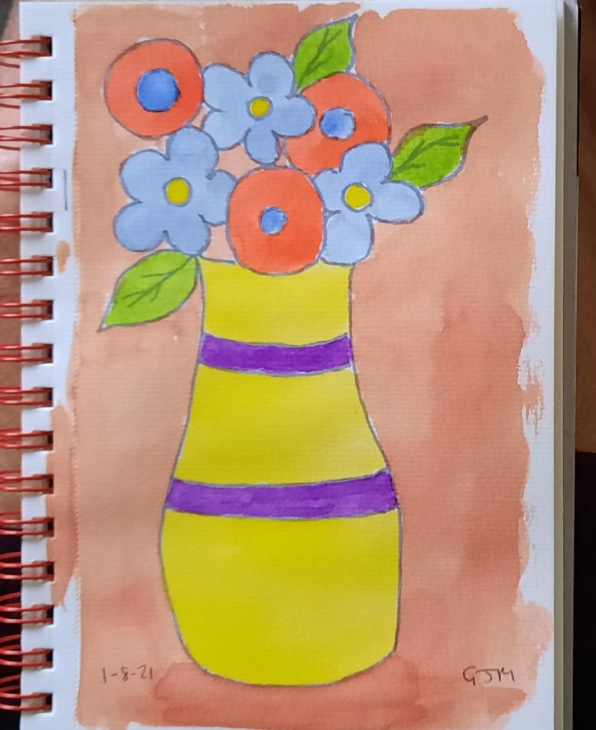 When I searched for vase, I came across Matisse style pictures so went for that. #doodlewashaugust20