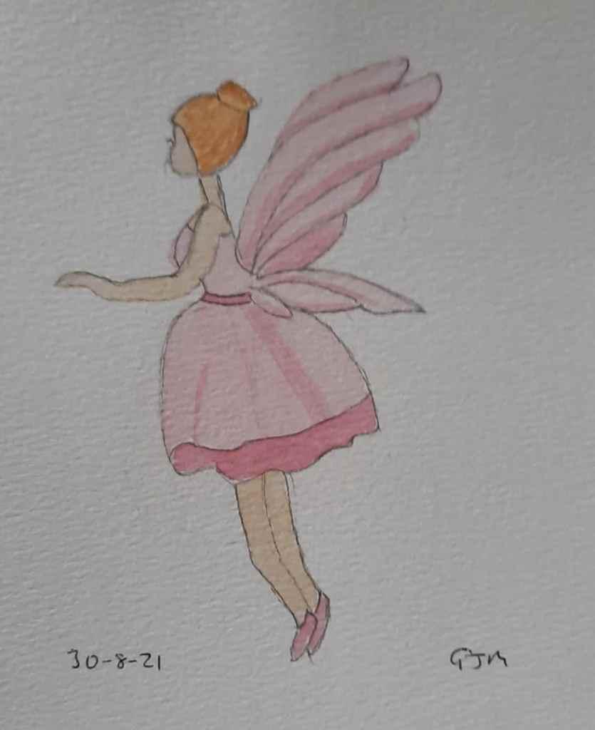#doodlewashaugust2021 Day 30 Fairy #worldwatercolorgroup 20210830_092349