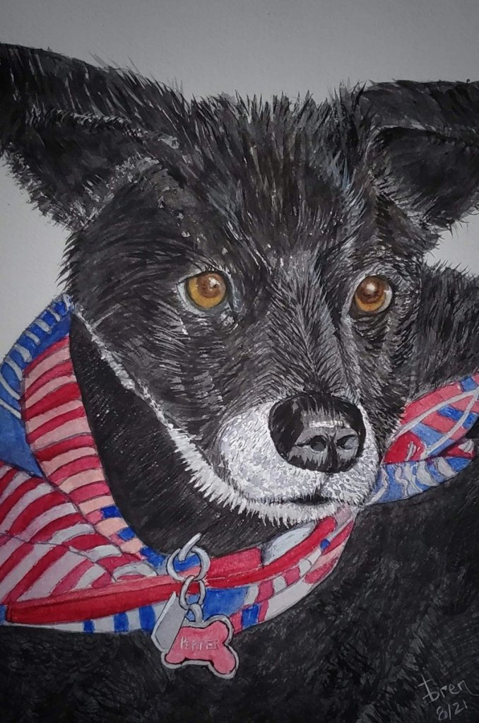 Just finished, wasn't happy with the paper. This is our dog. FB_IMG_1628110820143