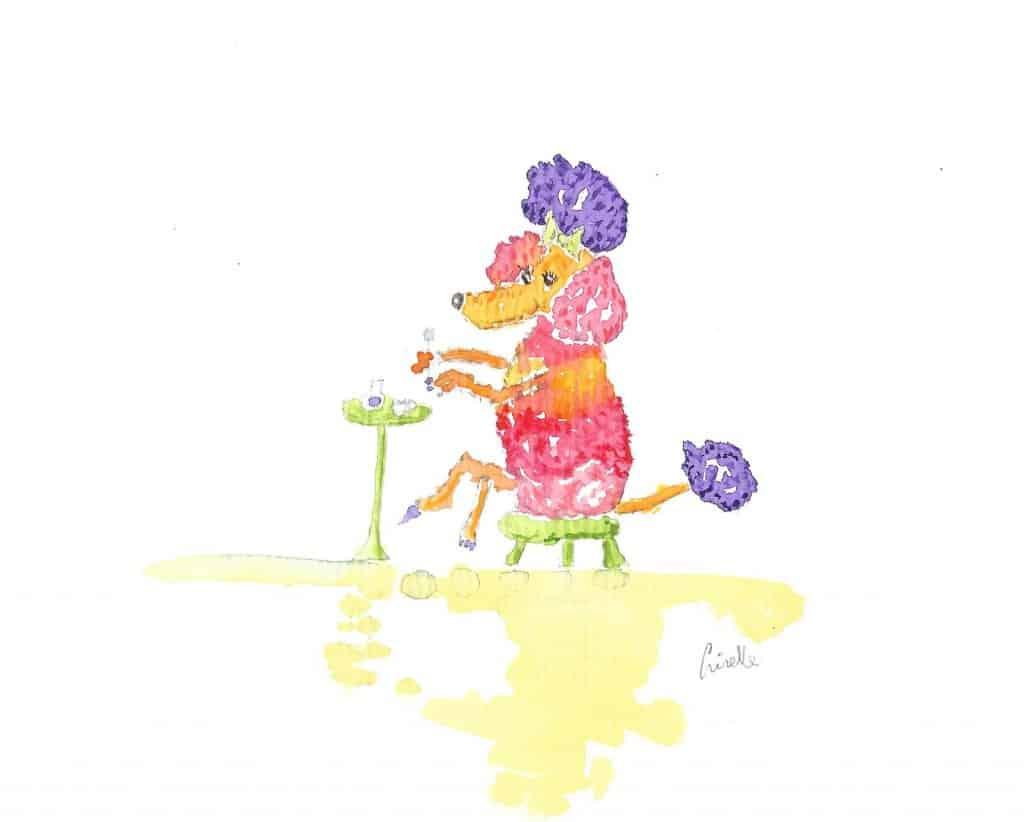 Fifi loves purple nail varnish! Fifi loves purple nail varnish